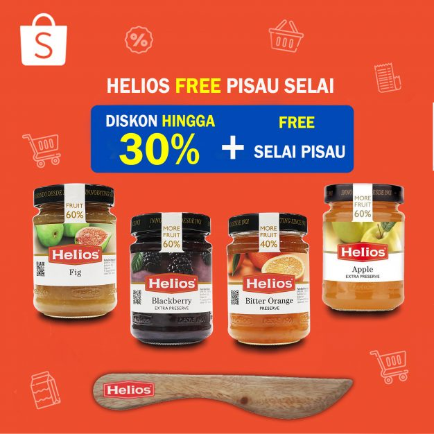 Helios Free Pisau Selai + Diskon Hingga 30% (Blackberry, Fig, Apple, Bitter Orange)