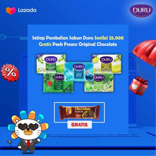Setiap Pembelian Sabun Duru Senilai IDR 25,000 Gratis Peek Freans Original Chocolate